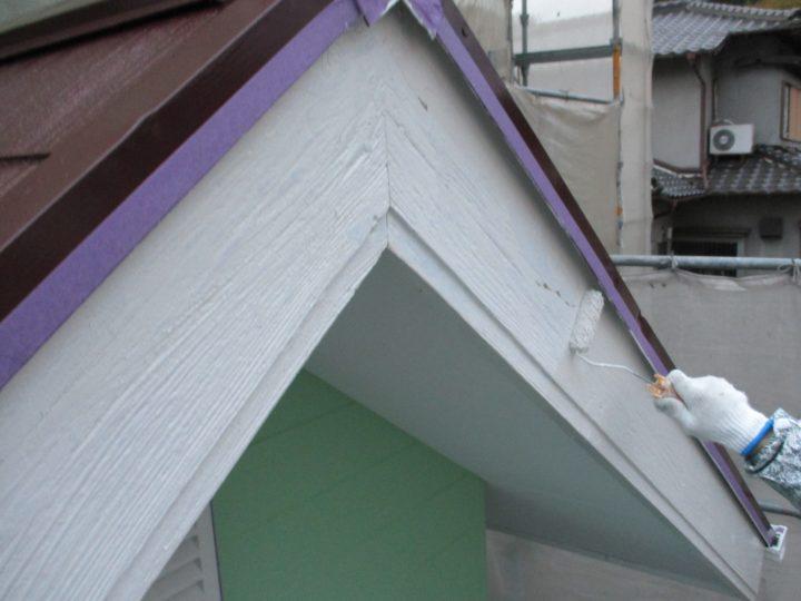 ⇦破風板塗装⑤