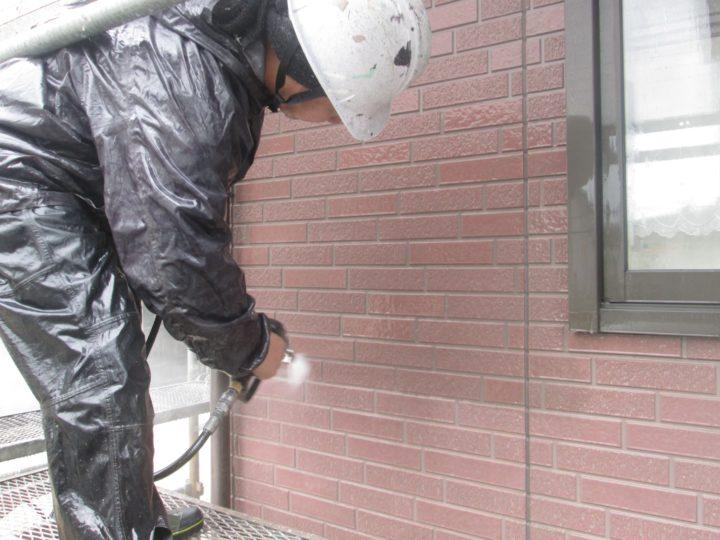 外壁塗装(1階)②⇨