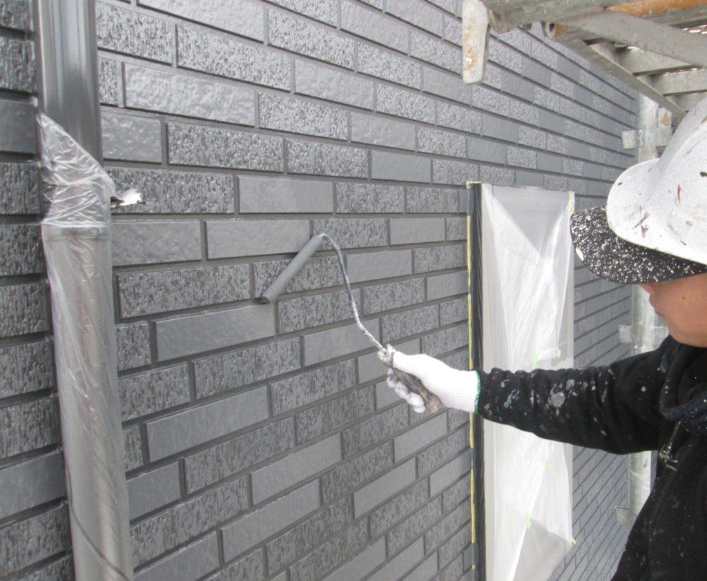 外壁塗装(1階)上塗り表面