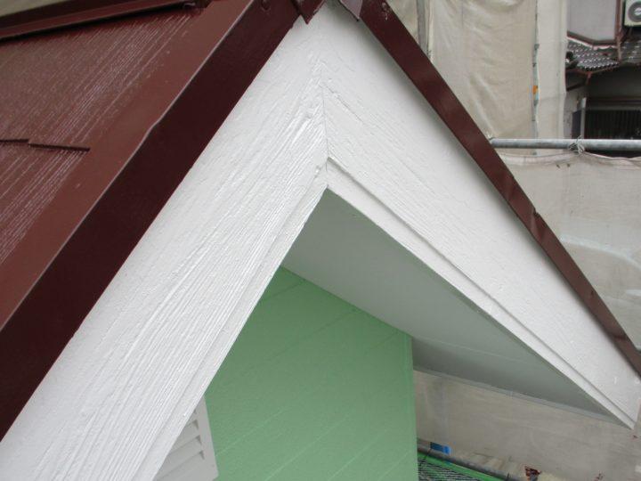 破風板塗装⑥