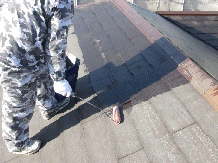屋根塗装③⇩