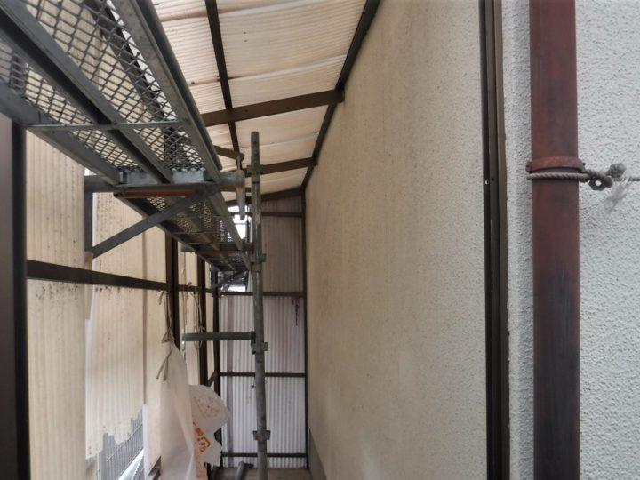 トタン処理及び外壁塗装工事⇨