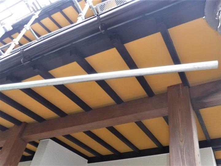 軒天井塗装工事