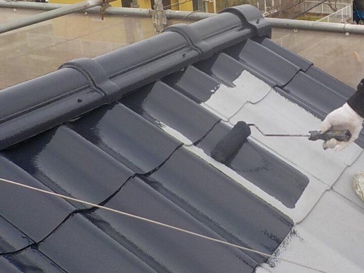 ④中塗り(屋根)