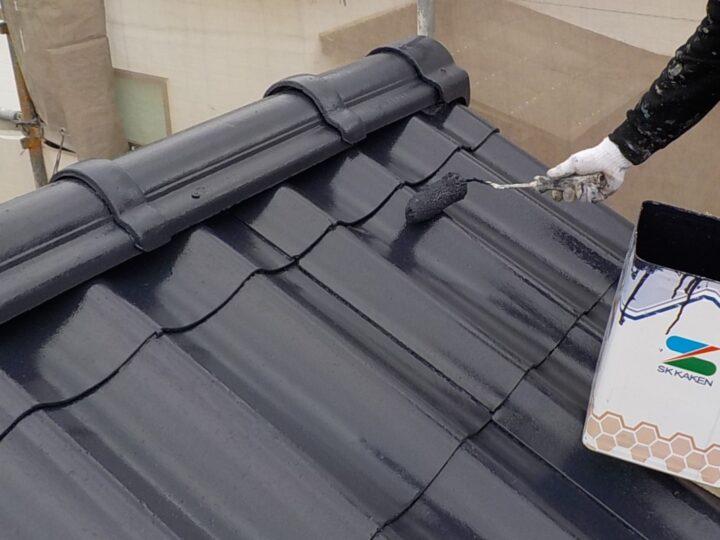⑤上塗り(屋根)